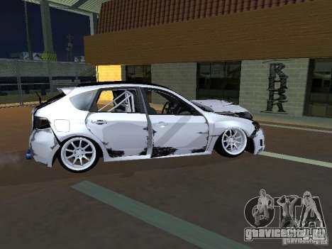 Subaru Impreza STI hellaflush для GTA San Andreas вид изнутри