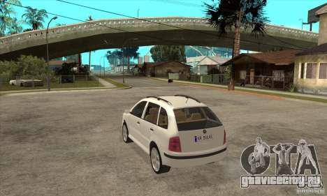 Skoda Fabia Combi для GTA San Andreas вид сзади слева