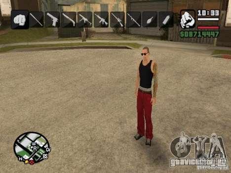 Иконки при смене оружия для GTA San Andreas