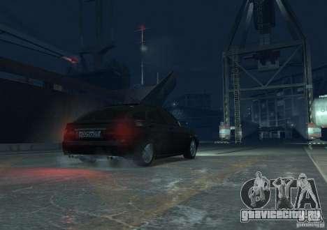 Лада Приора хетчбэк для GTA 4 вид сзади