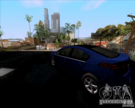 Chevrolet Volt 2012 Stock для GTA San Andreas вид сзади слева