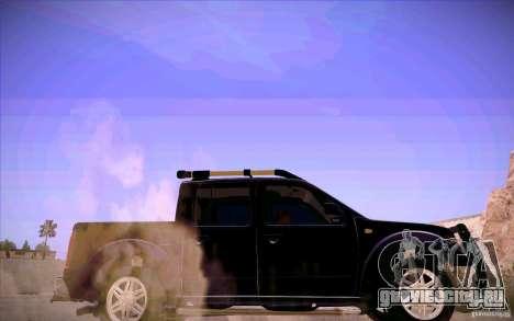 Nissan Fronter для GTA San Andreas вид снизу