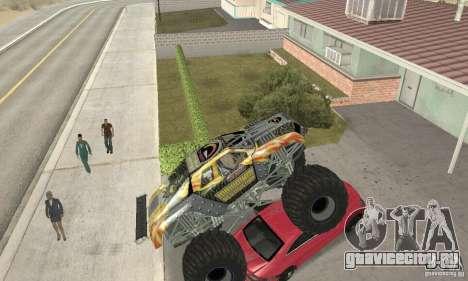 Monster Truck Maximum Destruction для GTA San Andreas вид изнутри