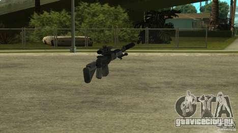 MK14 EBR с глушителем для GTA San Andreas пятый скриншот