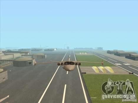 Cargo Shamal для GTA San Andreas вид сбоку