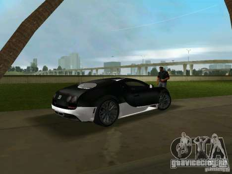 Bugatti Veyron Extreme Sport для GTA Vice City вид сзади слева