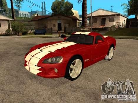 Dodge Viper Coupe 2008 для GTA San Andreas вид сбоку