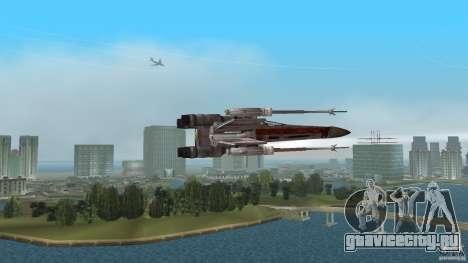X-Wing Skimmer для GTA Vice City вид сзади слева