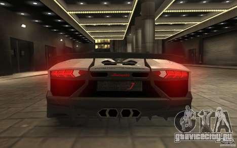 Lamborghini Aventador J для GTA 4 вид сзади