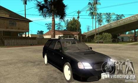 Subaru Legacy Station Wagon для GTA San Andreas вид сзади