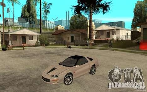 Chevrolet Camaro SS 2002 для GTA San Andreas