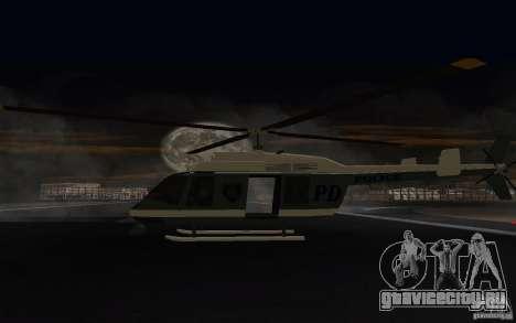 GTA IV Police Maverick для GTA San Andreas вид справа