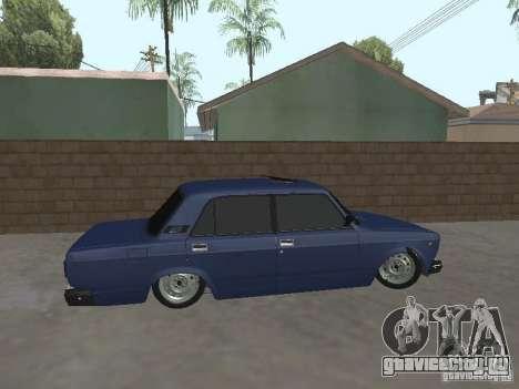 ВАЗ 2107 v2 для GTA San Andreas вид слева