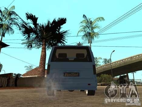 ГАЗ-2217 Соболь-Баргузин для GTA San Andreas вид сзади слева