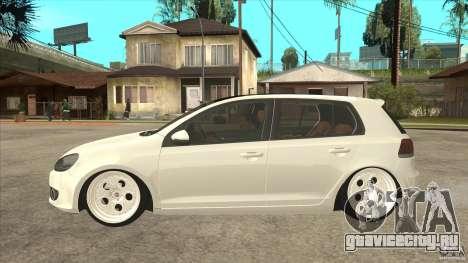 Volkswagen Golf VI 2010 Stance Nation для GTA San Andreas вид слева