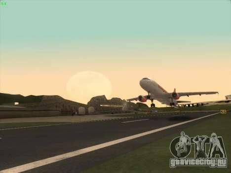 Airbus A320-214 EasyJet для GTA San Andreas вид справа