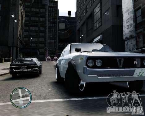 Nissan Skyline KPGC110 2000GT-X для GTA 4 вид сзади