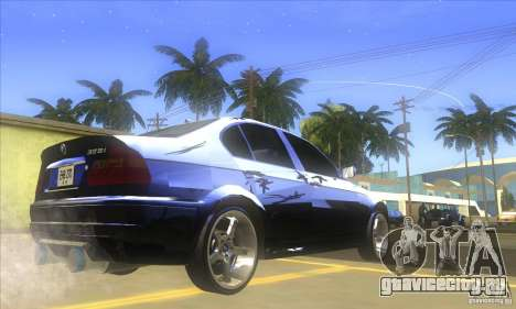 BMW 325i E46 v2.0 для GTA San Andreas вид сзади слева
