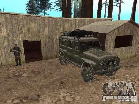 УАЗ-31519 из COD MW2 для GTA San Andreas вид сверху