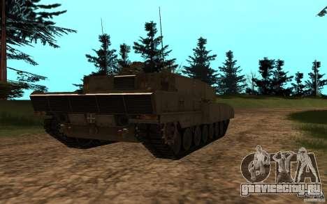 Leopard 2a7 для GTA San Andreas вид сзади слева