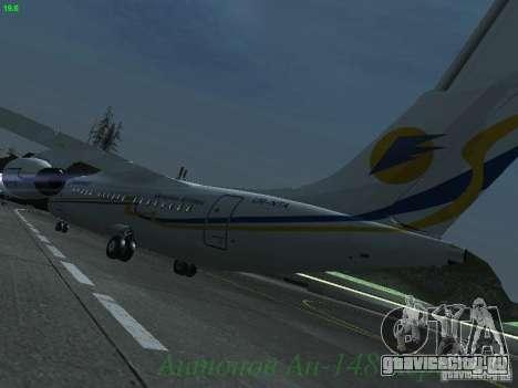 Антонов Ан-148 Aerosvit Ukrainian Airlines для GTA San Andreas вид сзади слева