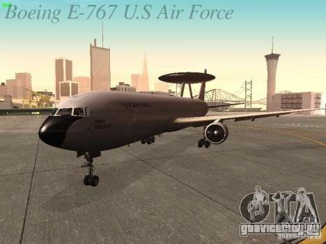 Boeing E-767 U.S Air Force для GTA San Andreas вид слева