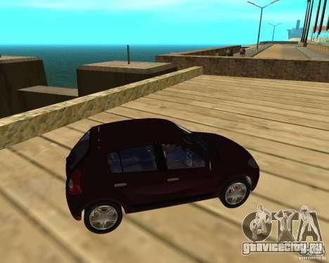 Dacia Sandero 1.6 MPI для GTA San Andreas вид справа