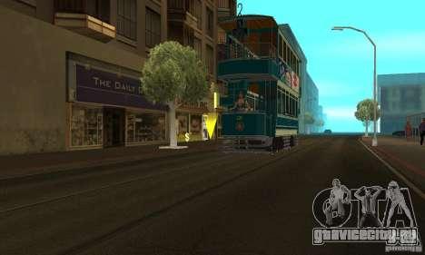 Double Decker Tram для GTA San Andreas вид сзади слева