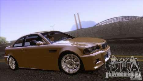 BMW M3 E48 для GTA San Andreas вид сзади