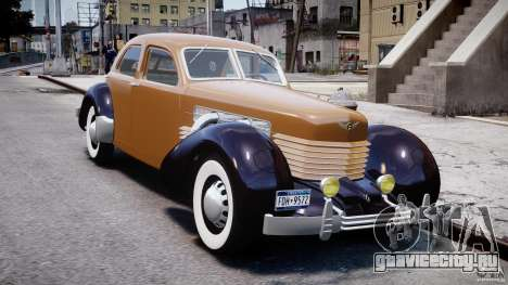 Cord 812 Charged Beverly Sedan 1937 для GTA 4 вид сзади