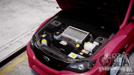 Subaru Impreza WRX STi 2011 для GTA 4 вид изнутри