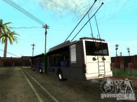 Троллейбус ЛАЗ E301 для GTA San Andreas вид сзади