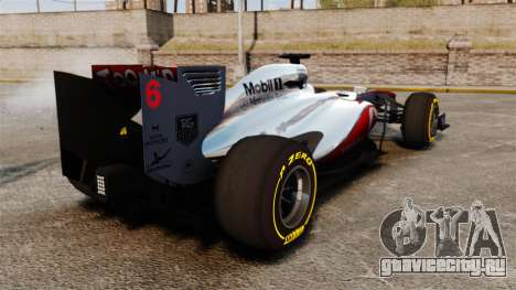 McLaren MP4-28 для GTA 4 вид справа