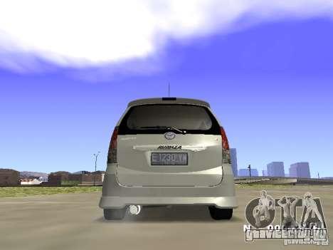 Toyota Avanza Street Edition для GTA San Andreas вид слева