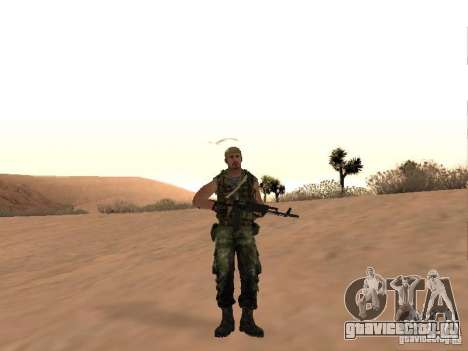 Российский Спецназовец для GTA San Andreas второй скриншот