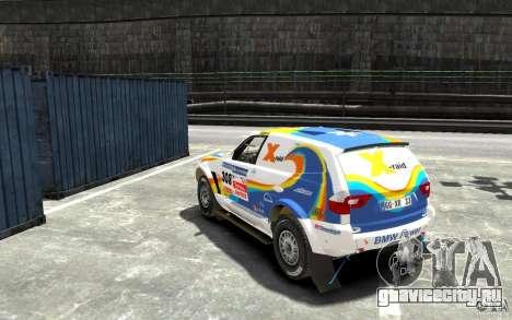 BMW X3 CC DAKAR для GTA 4 вид сзади слева