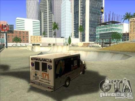 Ford E-350 Ambulance для GTA San Andreas вид справа