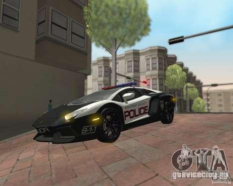 Lamborghini Aventador LP700-4 Police для GTA San Andreas вид сзади