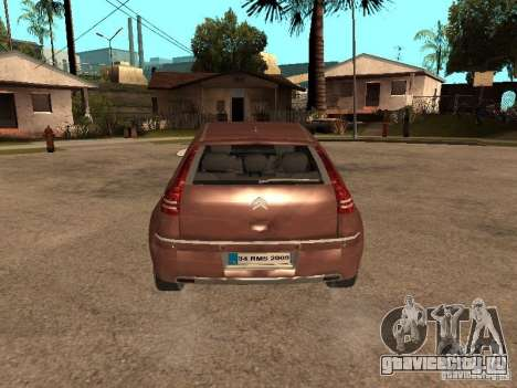 Citroen C4 для GTA San Andreas вид сзади
