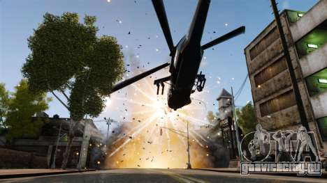 Вертолёт с RPG для GTA 4 вид сзади