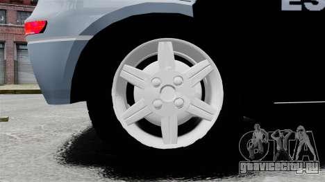 Chevrolet Corsa 2012 PMESP ELS для GTA 4 вид сзади