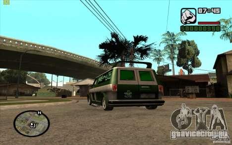 Grove Street Gang Burrito для GTA San Andreas вид справа