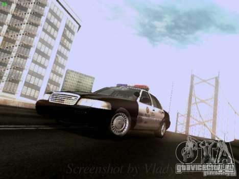 Ford Crown Victoria Los Angeles Police для GTA San Andreas вид слева