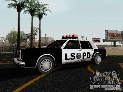 Greenwood Police LS для GTA San Andreas вид слева