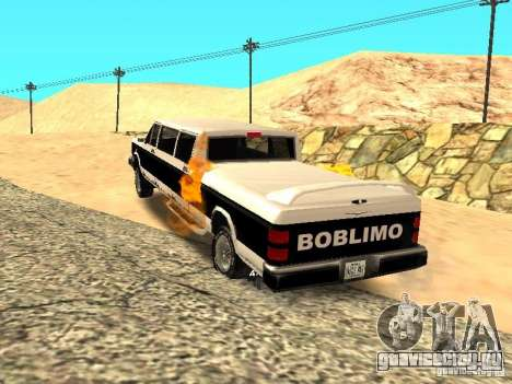 BOBCAT Лимузин для GTA San Andreas вид сзади слева