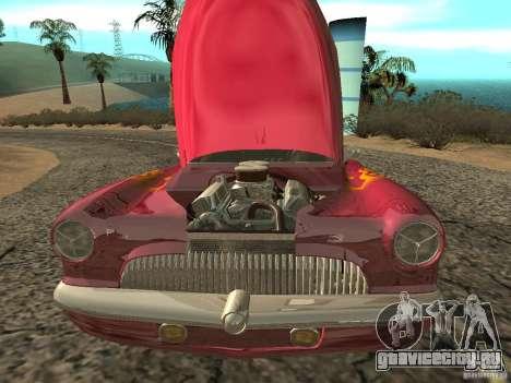 Buick Custom 1950 LowRider 1.0 для GTA San Andreas вид изнутри