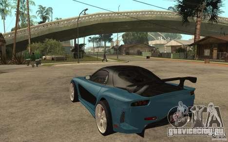Mazda RX 7 VeilSide для GTA San Andreas вид сзади