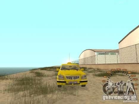 ГАЗ-31105 такси для GTA San Andreas вид справа