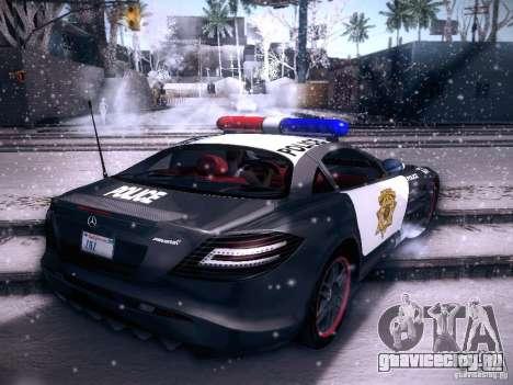 Mercedes-Benz SRL 722 Police для GTA San Andreas вид слева