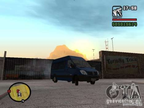 Mercedes-Benz Sprinter 2500 High Roof Passenger для GTA San Andreas вид справа